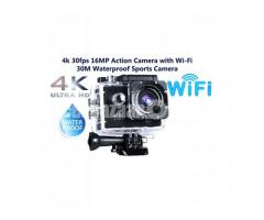 Wifi Camera 4k Action Cam 30fps 16MP Waterproof