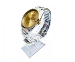 Citizen Silver Gold Watch, Two Tone Day Date Wrist Quartz for Men