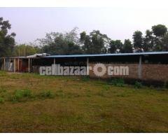 4 bigha land with factory setup at mawna
