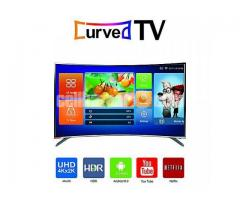 """New Wi-Fi Android Curved Led  Tv View One-32""""3D+Fhd"""