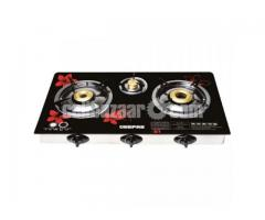 Geepas 3 Burner gas Stove Glasses GK6759