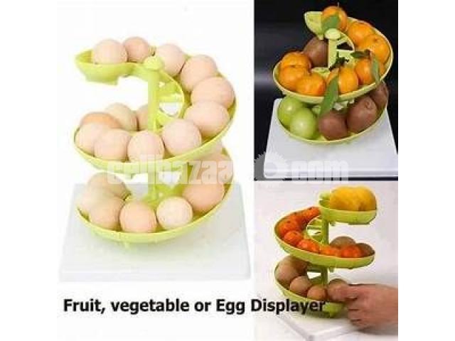 Egg Fruit Vegetable Display Kitchen Storage Rack - 1/1