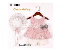 3 Pcs/set Summer Baby Girl Clothes Set