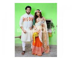 Eid special panjabi with sari for couple