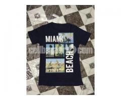 man's print t-shirt