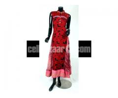 Original Pakistani Embroidered Chiffon Gown