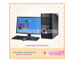 "Intel Core 2 Duo+ HDD 500GB+RAM 2GB with 17"" LED"