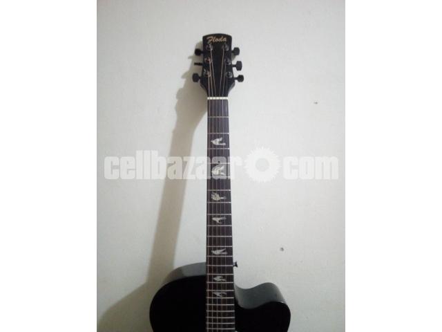 FLODA BLACK FULL NEW AND FRESH GUITAR - 5/5
