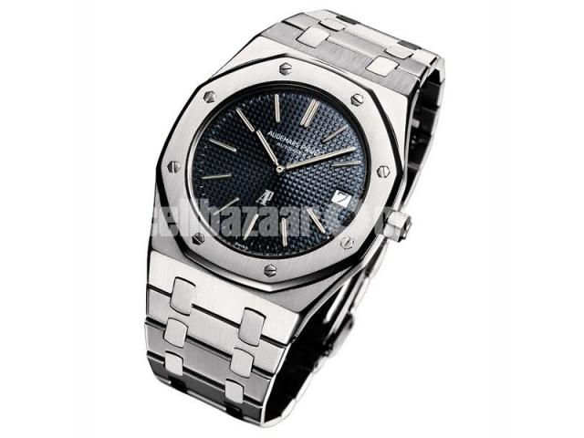 Audemars Piguet Royal Oak Silver Black Watch - 1/1
