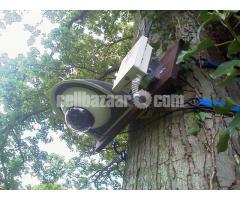 Wireless surveillance camera for long range transmission
