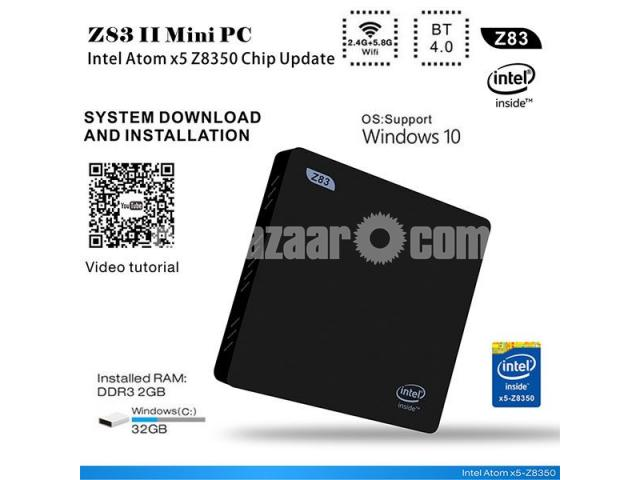 Z83II Intel Atom x5-Z8350 64bit Win10 Mini PC 2GB DDR3 RAM USB 3.0 Wifi Bluetooth 4.1 - 1/5