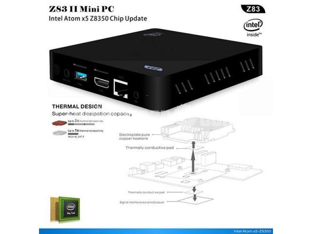 Z83II Intel Atom x5-Z8350 64bit Win10 Mini PC 2GB DDR3 RAM USB 3.0 Wifi Bluetooth 4.1 - 4/5