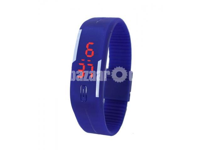 LED Digital Blue Bracelet Watch for Women - 1/1