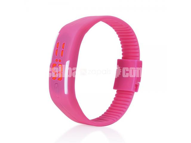 LED Digital Pink Bracelet Watch for Women - 1/1