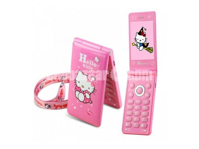 Hello Kitty D10 Dual SIM Touch Display Folding Phone - 1/2