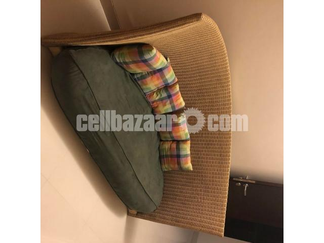 Hand Made Cane Sofa (Three Sitter) - 2/3
