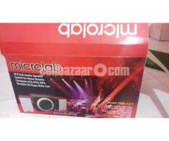 Microlab Hi Fib Sub Woofer Speaker. headphone, mouse pad, mouse
