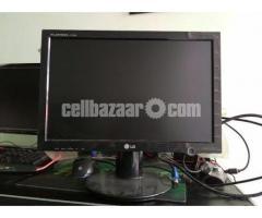 LG Moitor and Desktop