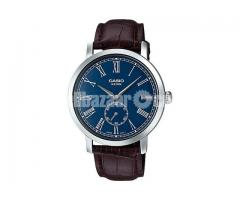 WW0056 Original Casio Enticer Leather Belt Watch MTP-E150L-2BV