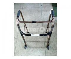 Folding Walker with Front Wheel (Free Delivery)