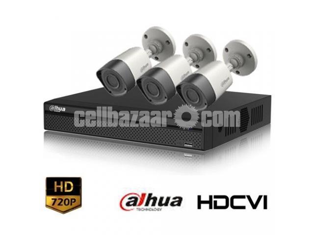 HD-CVI 04 Channel DVR With 03 Units HD-CVI 720p Camera - 1/1