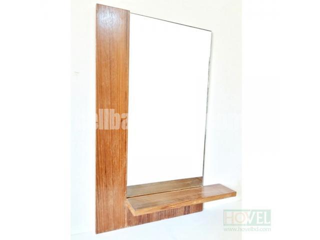 Half Border Mirror Frame with Shelf - 1/2