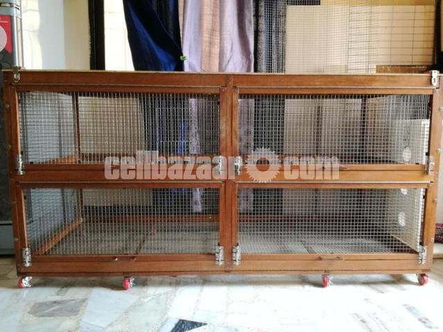 wooden cage for guinea pig, rabbit, fancy bird - 1/5