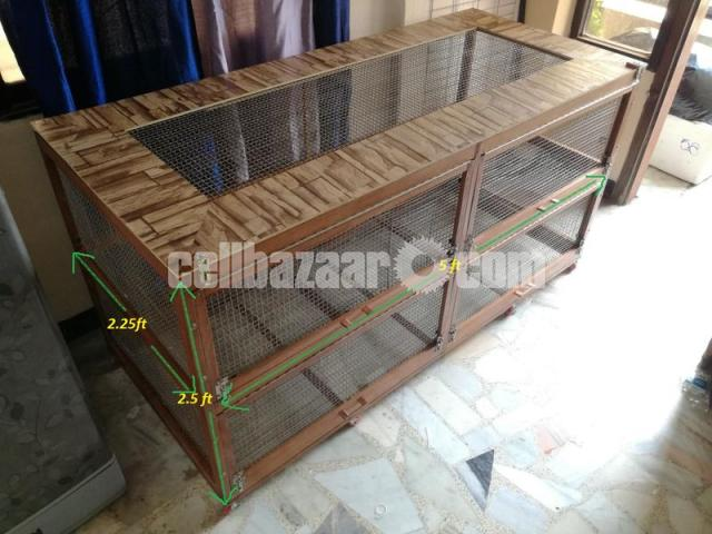 wooden cage for guinea pig, rabbit, fancy bird - 2/5
