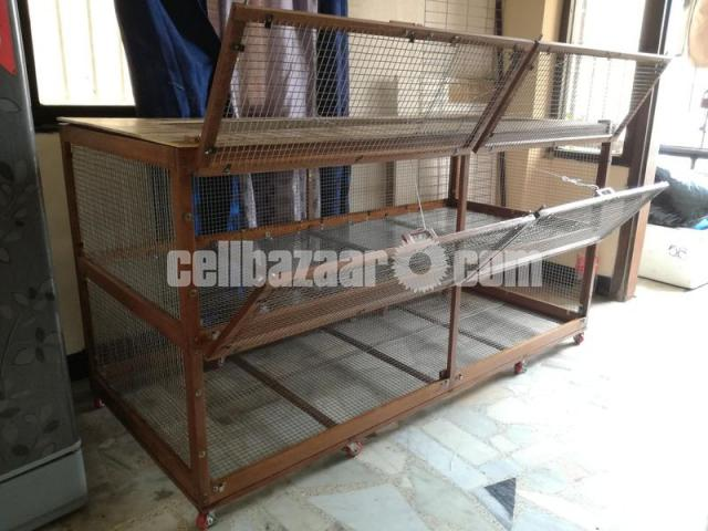 wooden cage for guinea pig, rabbit, fancy bird - 3/5