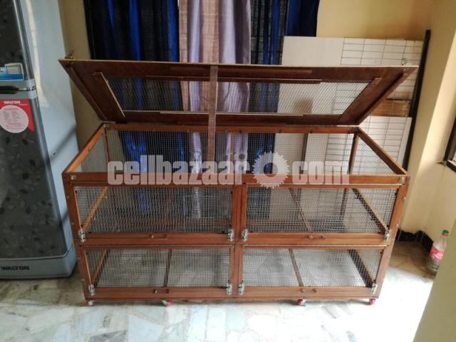 wooden cage for guinea pig, rabbit, fancy bird - 4/5