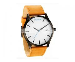 MVMT CLASSIC SERIES – 45 MM WHITE/TAN LEATHER Wrist Watch