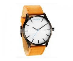 MVMT CLASSIC SERIES – 45 MM WHITE/TAN LEATHER Wrist Watch