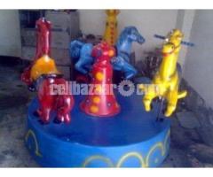 Three Horse Merry Go Round | Theme Park Manufacturer bangladesh