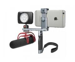 Manfrotto Ergonomic Handle and Accessory Bar for TwistGrip Smartphone Clamp