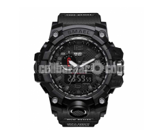 Smael Military Watch for Men with anti-shock and Led light (Black)