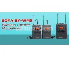 BOYA BY-WM8 UHF Dual-Channel Wireless Lavalier Microphone System