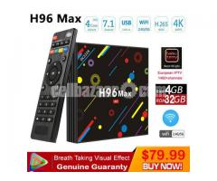 H96 MAX H1 Quad Core 4GB 32GB Android 7.1 TV Box