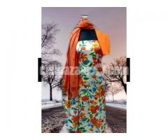Unstiched block printed cotton replica salwar kameez seblock-615