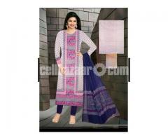 Unstiched block printed cotton replica salwar kameez seblock-624