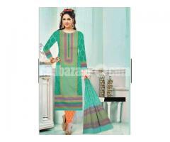 Unstiched block printed cotton replica salwar kameez seblock-625