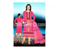 Unstiched block printed cotton replica salwar kameez seblock-626