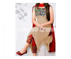 un-stitched georgette salwar kameez kameez-1111