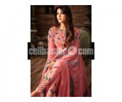 un-stitched  georgette with embroidery salwar kameez