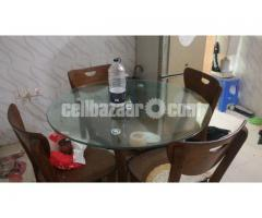 Dining table transparent glass