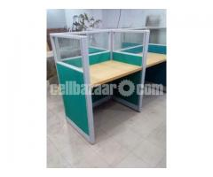 office panal partition & workstation with glass.