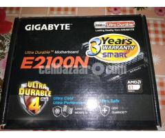Gigabyte E2100N motherboard, with AMD processor.