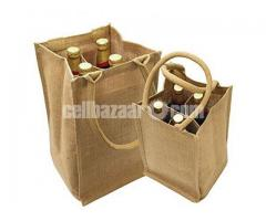 jute win bottle bag
