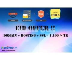 Domain + Hosting + SSL @ 1,100 /-