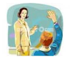 Lady Home Tutor for English Medium/Version