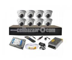 "CCTV HD Camera 4& 500GB 17"" LED"